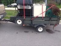 4x8 utility trailer. Trade for bigger trailer.