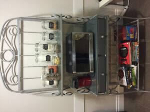 Kitchen buffet microwave stand