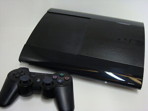 PS3 Super Slim System With 250 GB Hard Drive And Game!