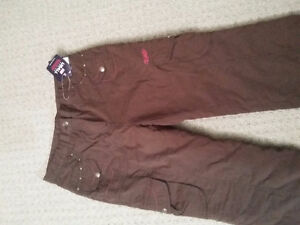 Women's lined brown winter pants Size Small New with tags London Ontario image 2