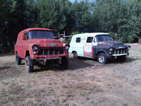 1956 and 1957 Chev Panel trucks Projects - Military & Ambulance