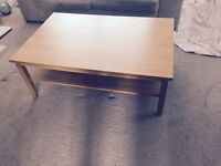 Oak veneer coffee table.