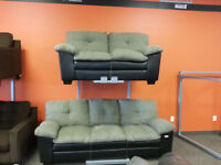 HODSON PEWTER SOFA AND LOVE