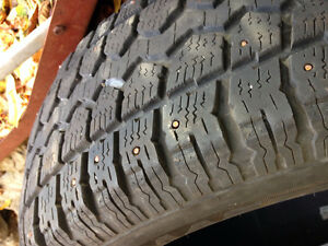 4 tires used-  studded  -great value- West Island Greater Montréal image 1