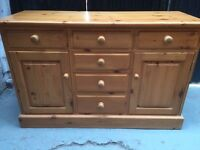Solid chunky pine sideboard