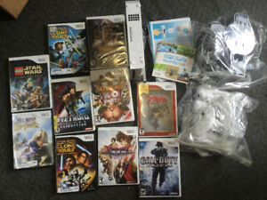 Nintendo WII game system and 11 games