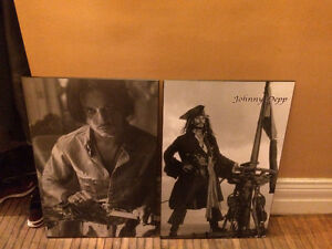 Two Johnny Depp Wood Prints - Excellent Condition!