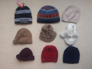 9 knit hats Size M L Gap H&M Alcatraz wool