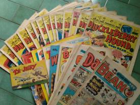Beano, Dandy, Huckleberry Finn Comics
