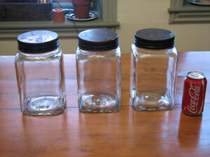 Large Antique Store Confectionery, Pantry Storage Glass Jars