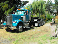 1989 Kenworth w/'93 Peerless Log Jeep &'81 Arctic Pole Trailer