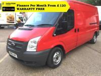 2014 FORD TRANSIT 2.2 300 LWB MEDIUM ROOF Panel Van (2.4, 330 350 MWB High Roof)