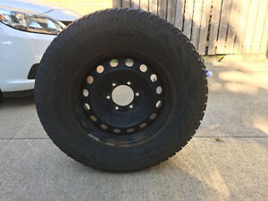 P265-70R17 Snow tires and Rims