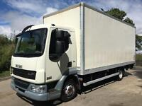 2012 12 DAF LF 45.160 Euro 5 20ft GRP box, column tail-lift