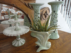 Bird Compote, Vase & Candle Holders