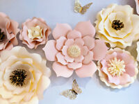 Premium Paper Flowers Rent - Baby Shower/ Bridal/ Party Decor