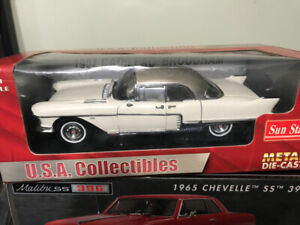 Cadillac Brougham 1957 toit stainless diecast 1/18 die cast