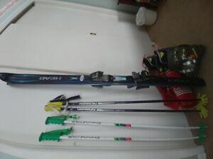 Ladies Downhill ski package: skis, poles, boots