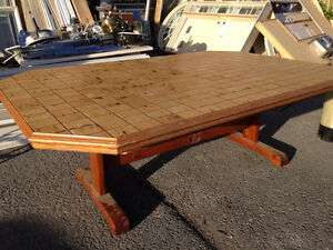 Solid Pine Tile Top Table