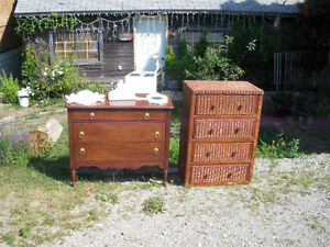 Vintage, Wicker, Plain and hand-crafted dressers