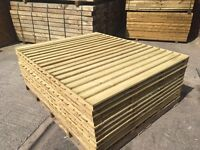 🔨🌟The Finest Quality Vertical Board Tanalised Flat Top Garden Fence Panels