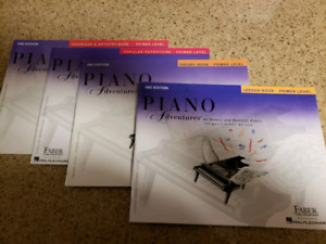 Piano lessons books.