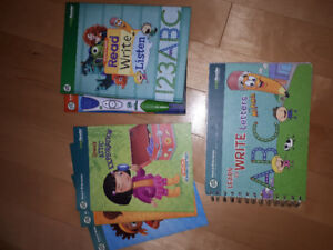 Leap Frog e-reader pen and books