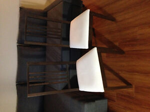 2 IKEA Borje Chairs - brown w/ white seats