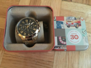 FOSSIL GOLD STAINLESS STEEL MENS WATCH