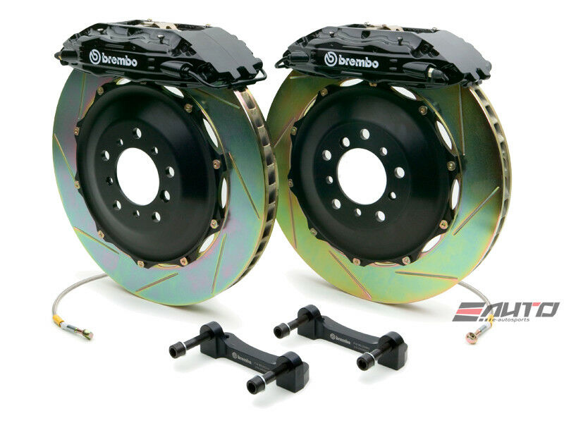 Brembo Front Gt Brake 4piston Caliper Black 332x32 Slot Disc Rx7 Rx-7 Fd3s 93-95
