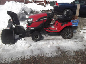 For sale ride on lawn mower.