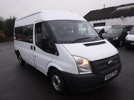 FORD TRANSIT 300 SHR 9 STR SHUTTLE BUS, White, Manual, Diesel, 2012