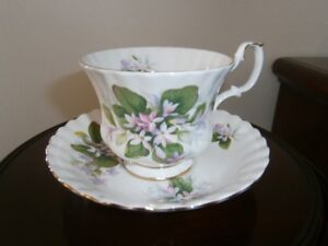 PRETTY ROYAL ALBERT 'MAYFLOWER' CUP AND SAUCER SET