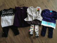 Lot de 4 ensembles pour fille