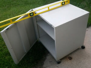 Small Metal Rolling Cabinet - Abt. 2×2×2 feet