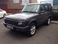 02 LANDROVER DISCOVERY XS TD5 DIESEL 4X4, 7 SEATER