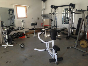 Excercise equipement, dumbell, smith machine