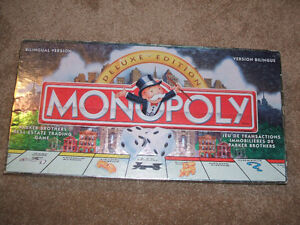 1998 Monopoly Deluxe Edition Board Game
