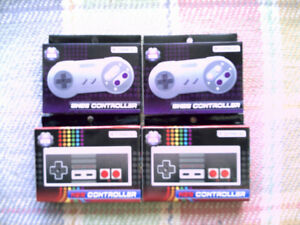 Pairs of Tomee NES & SNES Controlers New In Box