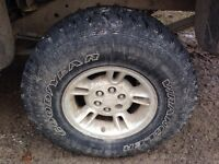 """31"""" good year wranglers like new (6 bolt dodge rims or remove)"""
