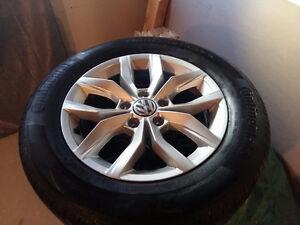 Neufs mags oem VW 5x 112 avec pneus été 215 60r 16 valeur 1600
