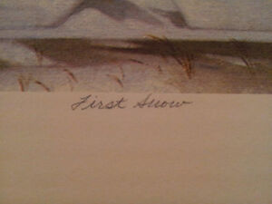 """A.J. Casson """"First Snow"""" Lithograph - Appraised at $3000 London Ontario image 3"""