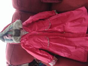 Girls size 7 deux par deux winter coat