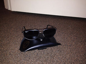 Ray Ban polarized blue sunglasses with case