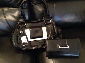 Black next handbag bag and next purse