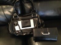 Black next handbag bag and next purse