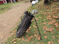 Golf bag with 9 Clubs