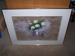 LARGE OIL PAINTING GORGEOUS YELLOW FLOWERS LTD PRINT 23/300