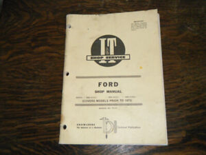 Ford 2000, 3000, 4000  Tractors  IT Shop Service Manual