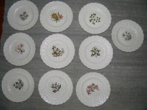 Set Canadian Provincial Flower Plates